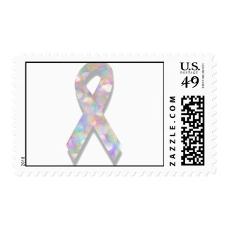 pearl lung cancer ribbon postage