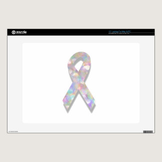 """pearl lung cancer ribbon skin for 15"""" laptop"""