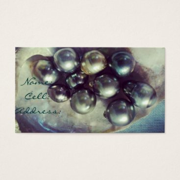 Beach Themed Pearl Luxe Business Card
