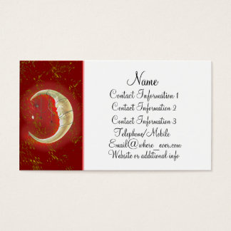 Pearl Moon Red Business Card
