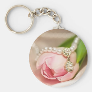 Pearl Necklace and Tulip Keychain