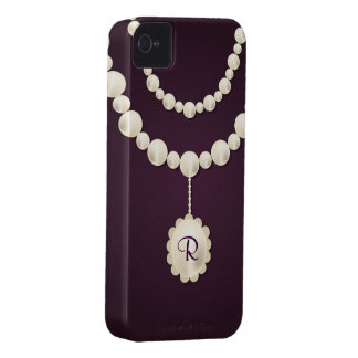 Pearl Necklace iPhone 4 Case-Mate Barely There iPhone 4 Case