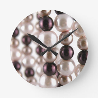 Pearl Obsession Round Clock