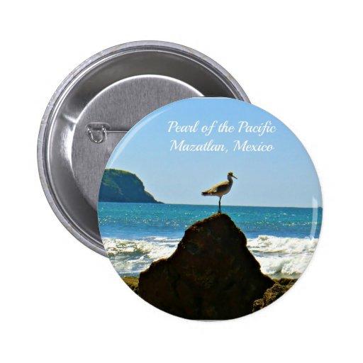 Pearl of the Pacific Mazatlan Mexico Bird Pin