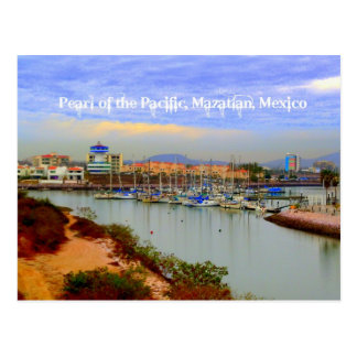 Pearl of the Pacific, Mazatlan Mexico Marina Postcard