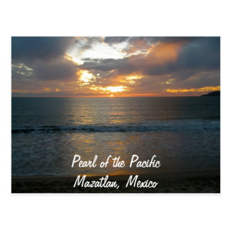 Pearl of the Pacific Mazatlan Mexico Sunset Postcard