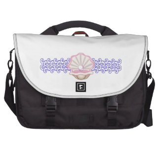 PEARL OYSTER AND WAVES LAPTOP BAGS