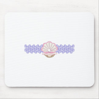 PEARL OYSTER AND WAVES MOUSE PAD