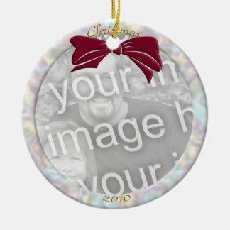 Pearl Personalize Photo Ornament