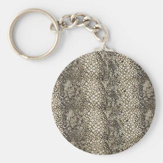 PEARL RATTLE SNAKE LEATHER TEXTURE KEYCHAIN
