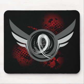 Pearl Ribbon And Wings Lung Cancer Mouse Pad