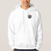 Pearl Ribbon And Wings Mesothelioma Hoodie