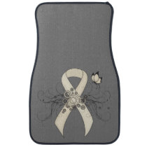Pearl Ribbon Butterfly Car Floor Mat