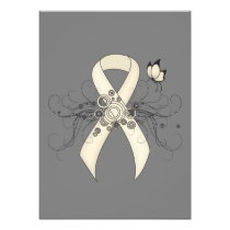 Pearl Ribbon Butterfly Photo Print