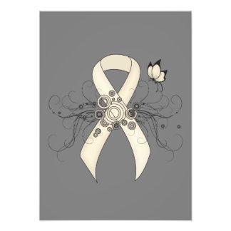 Pearl Ribbon Butterfly Photo Print