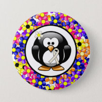 Pearl Ribbon Penguin Button