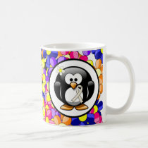 Pearl Ribbon Penguin Coffee Mug
