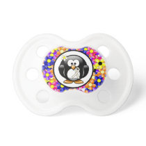 Pearl Ribbon Penguin Pacifier