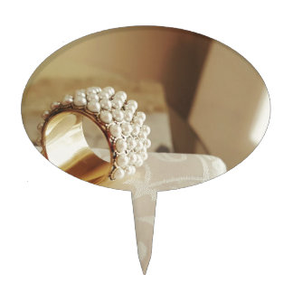 Pearl Ring Cake Topper