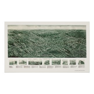 Pearl River, NY Panoramic Map - 1924 Poster