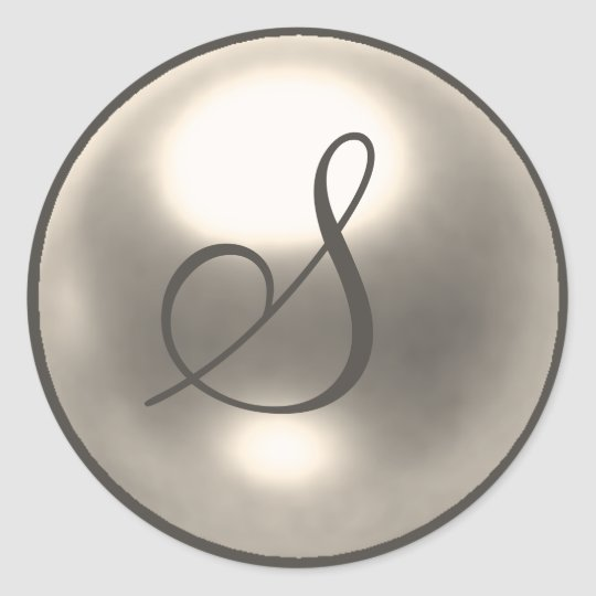 Pearl S monogram wedding seal
