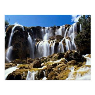 Pearl Shoals Waterfall, Jluzhaigou Nature Reserve, Post Card