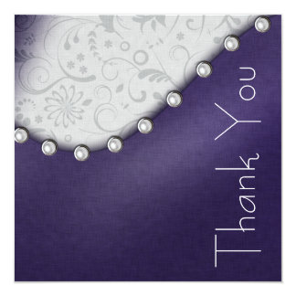 Pearl Square Birthday Thank you Card