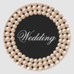 Pearl Strings Jeweled Wedding Sticker
