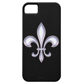 Pearl Style Fleur de Lis iPhone SE/5/5s Case