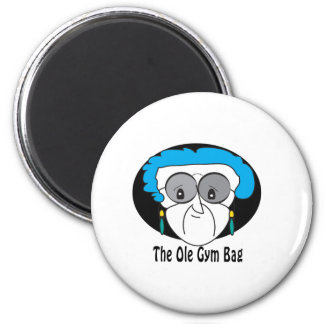 Pearl, the Ole Gym Bag Magnet