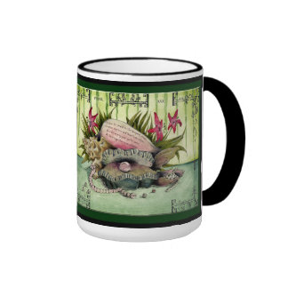 Pearl Wedding Anniversary: Jupigio-Artwork.com Ringer Coffee Mug