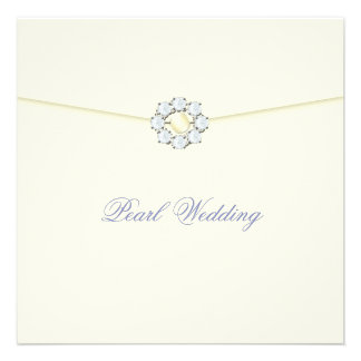 Pearl Wedding Anniversary with Diamonds & Pearls Custom Announcement