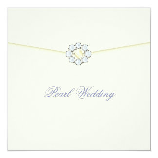 Pearl Wedding Anniversary with Diamonds & Pearls Invitation
