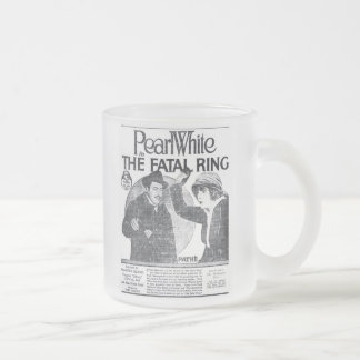 Pearl White 1917 vintage newspaper movie ad Frosted Glass Coffee Mug