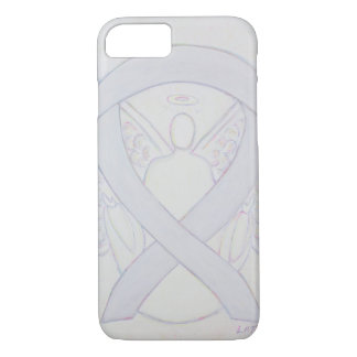 Pearl White Awareness Ribbon Angel iPhone 7 Case