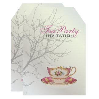 Pearl White Wedding Tree Love Birds Bridal Party Card
