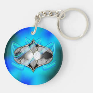 Pearl Within Double-Sided Round Acrylic Keychain