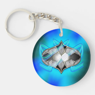 Pearl Within Single-Sided Round Acrylic Keychain