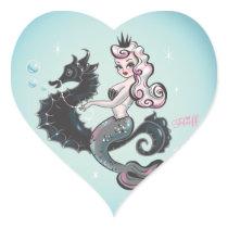 Pearla Mermaid Heart Stickers