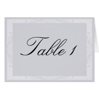 Pearled White Elegance Table Number tent card