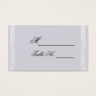 Pearled White Elegance Wedding Place Card