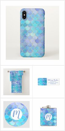 Pearlescent Mermaid Scale Pattern