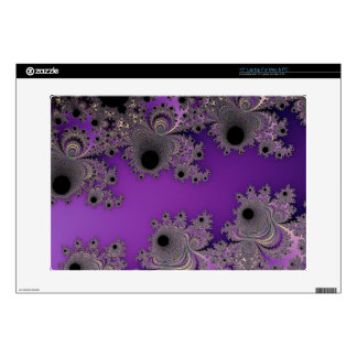 Pearlescent Purple Fractal Abstract Decals For Laptops