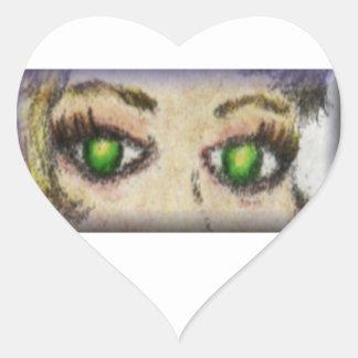 Pearletta Cool Eyes ~ Nikale Heart Sticker