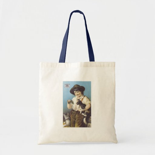 Pearline Boy with Pets Budget Tote Bag