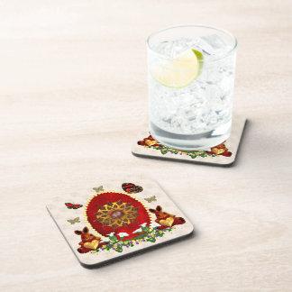Pearls and Bunnies Beverage Coaster