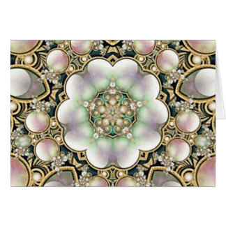 Pearls and Gold Kaleidoscope Card