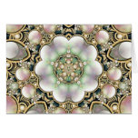 Pearls and Gold Kaleidoscope Cards