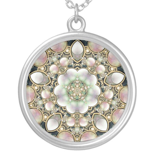 Pearls and Gold Kaleidoscope Necklace
