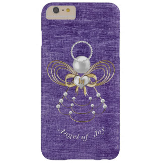 Pearls and Gold - Metallic Christmas Angel of Joy Barely There iPhone 6 Plus Case